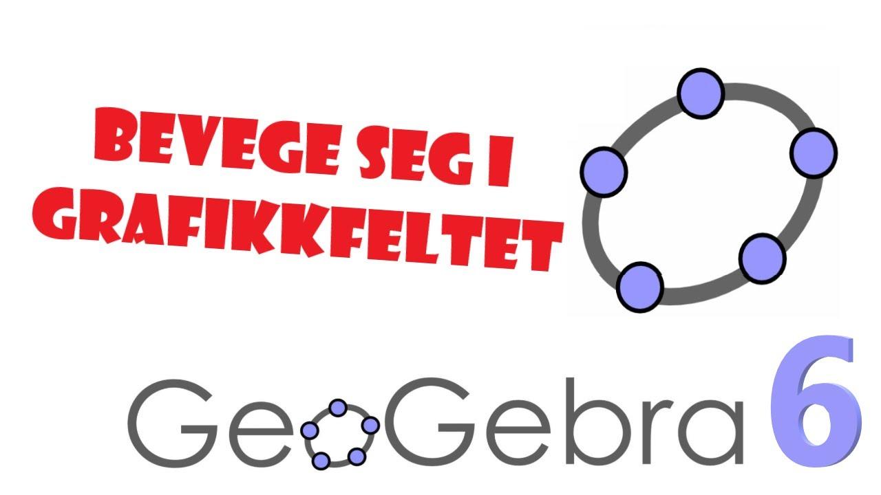 7. GeoGebra 6: Hvordan bevege seg rundt i koordinatsystemet / grafikkfeltet