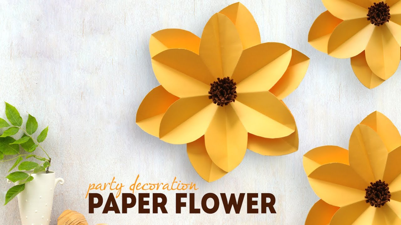 Diy party decoration paper flower youtube diy party decoration paper flower mightylinksfo