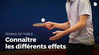 Découvrir et utiliser les différents effets | Tennis de Table