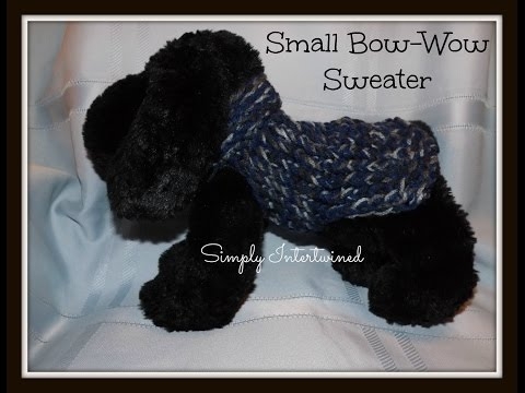 Small Bow Wow Sweater Pattern For A Dog
