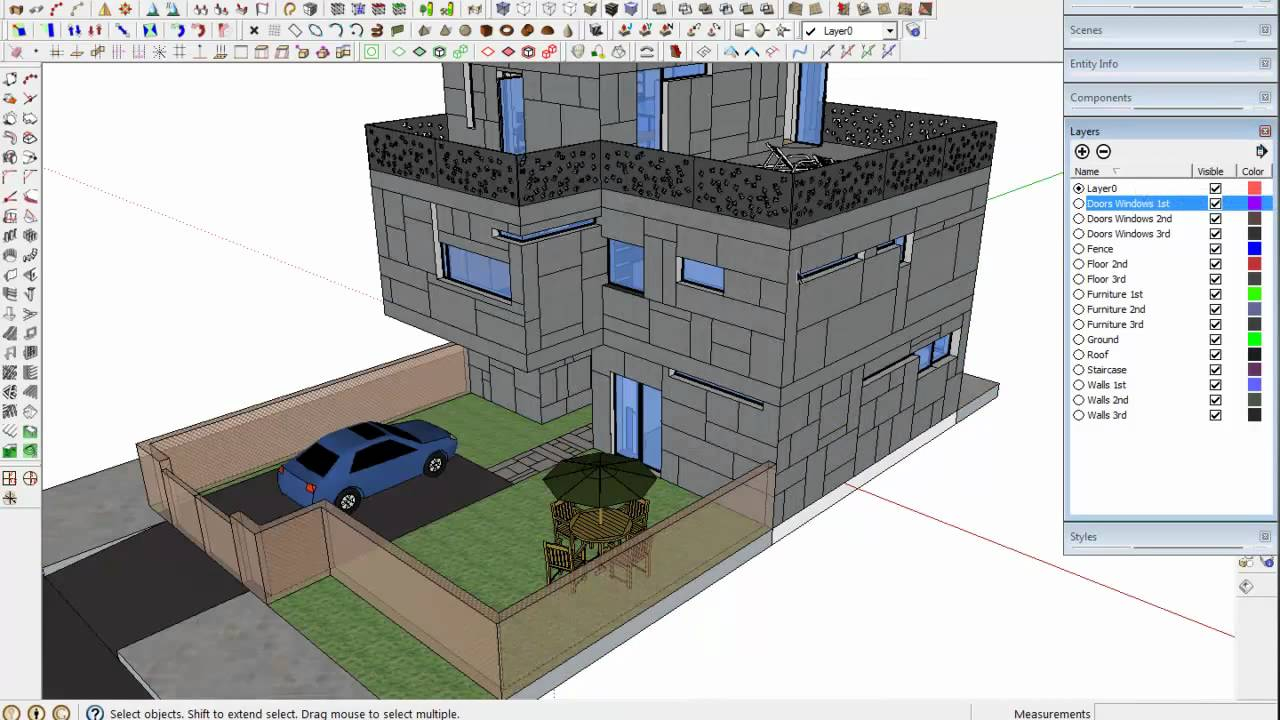 Tip to export from sketchup 3d to autocad 2d youtube for Garderobe 3d dwg