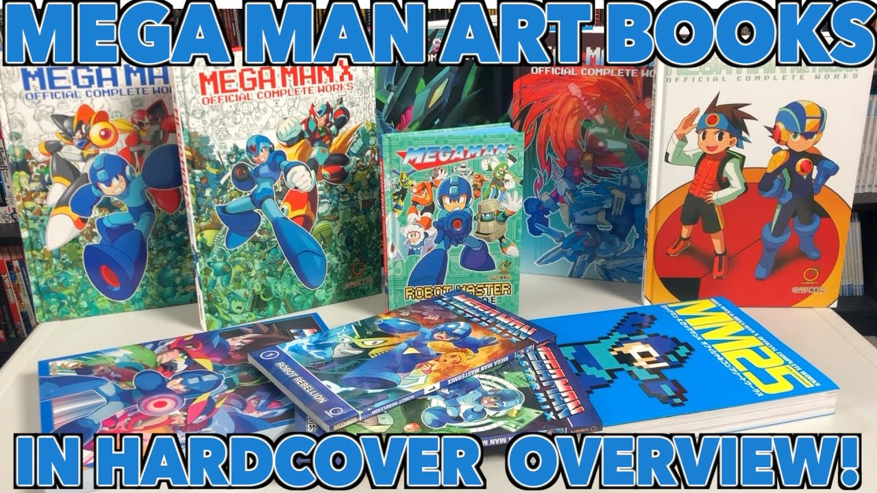 Mega Man Official Art Books in Hardcover format Overview!!