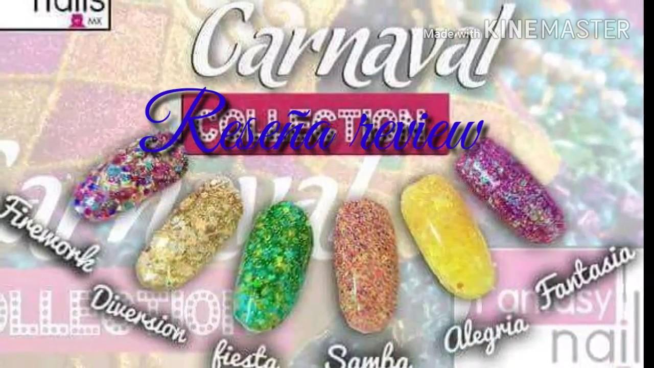 Reseña review de colección carnaval de fantasy nails 💅 - YouTube