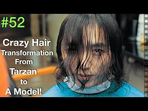 Curly Hair Transformation 2019 ✔︎ (Scissors Haircut Tutorial) Natural Hair | Barber UAE/USA