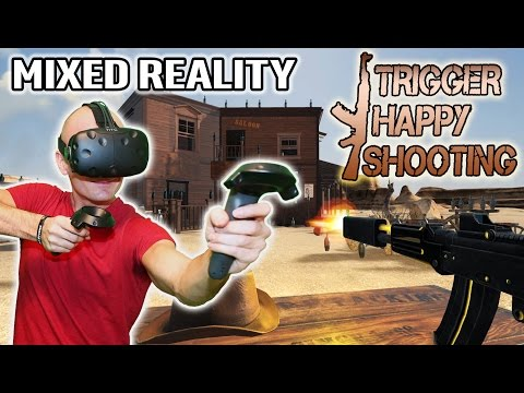 Trigger Happy Shooting VR in Mixed Reality on HTC Vive with Pre-Release Gameplay and First Look