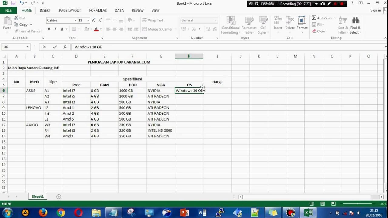Membuat Katalog Produk Di Excel Youtube Buku Baju