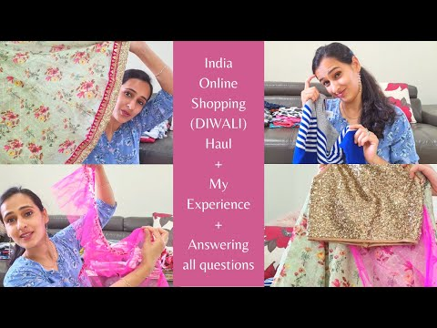 India Diwali Shopping Haul 2020 | Best Website to buy Kids Clothes | India to Australia Air Courier