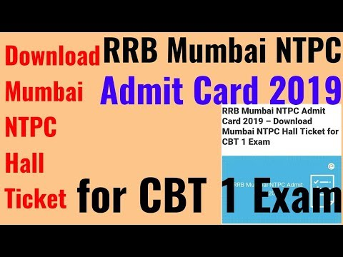 Rrb mumbai admit card 2019