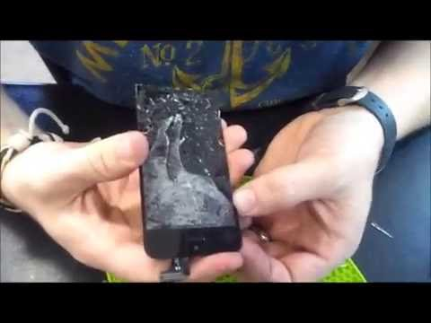 iPhone 5C Cracked Screen Repair Glass Only.