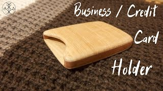 Wooden Business/Credit Card Holder