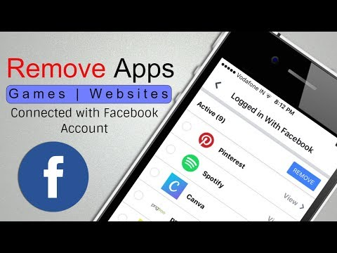 iPhone] Remove Apps Games Connected with Facebook Account
