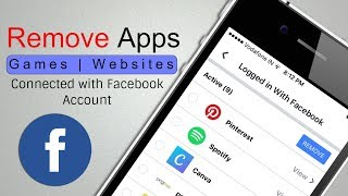 [iPhone] Remove Apps Games Connected with Facebook Account