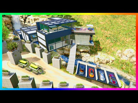 $100,000,000 OF GTA 5 MEGA MANSION TOURS LIKE IRON MAN'S BILLIONAIRE HOME, VILLAS & MORE! (MODS)