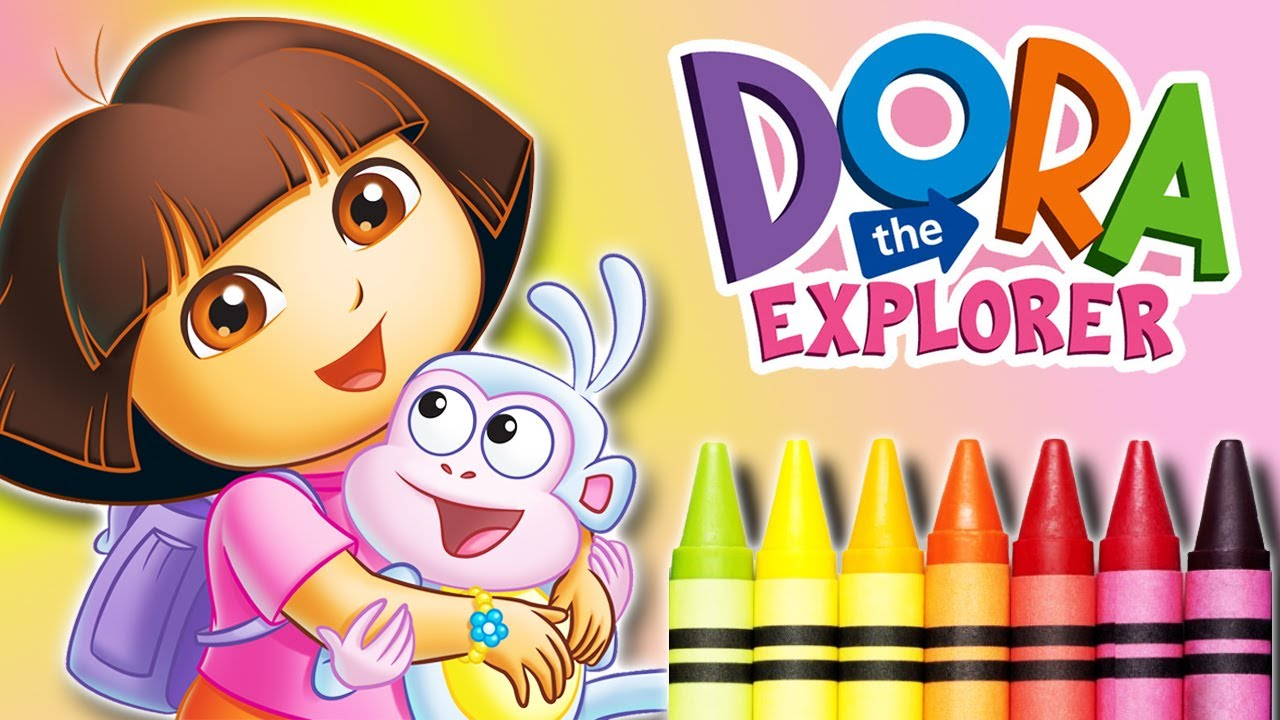 Coloring pages for girls dora
