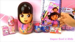 DORA the EXPLORER CARTOON!!! - Coloring Book! Beautiful Crayons for Beautiful Girls!