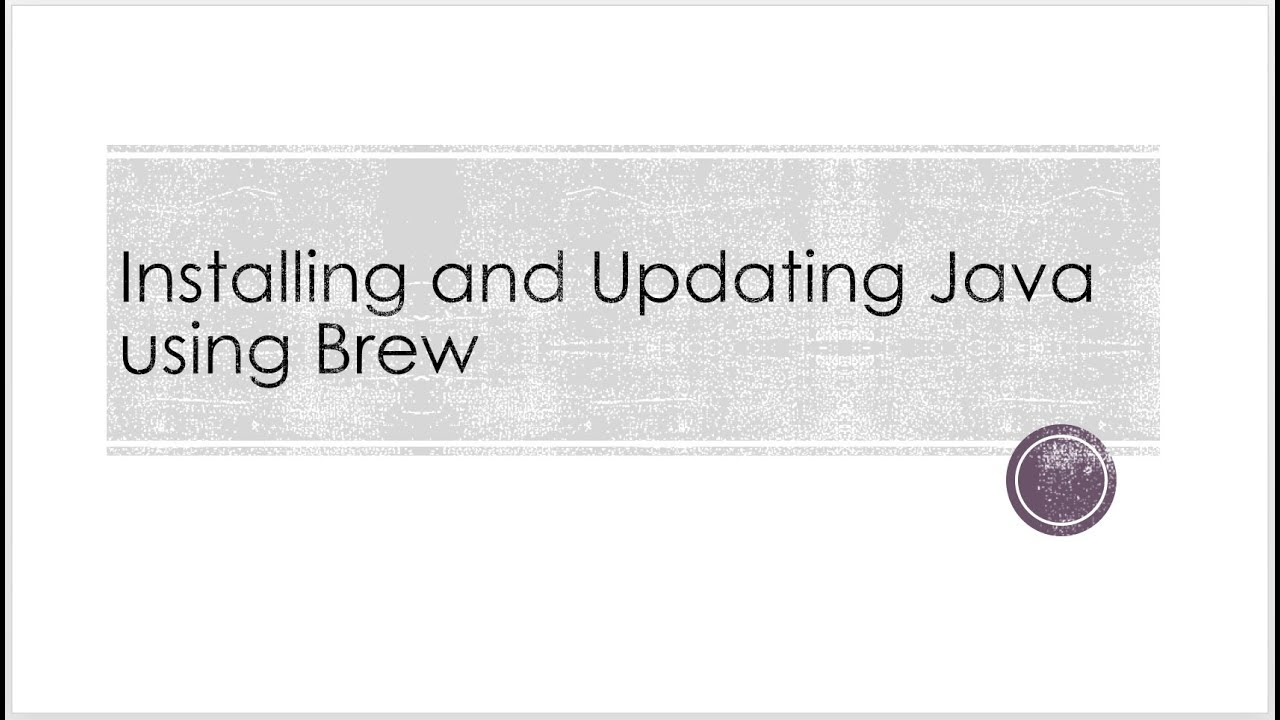 installing and updating java using brew on mac osx