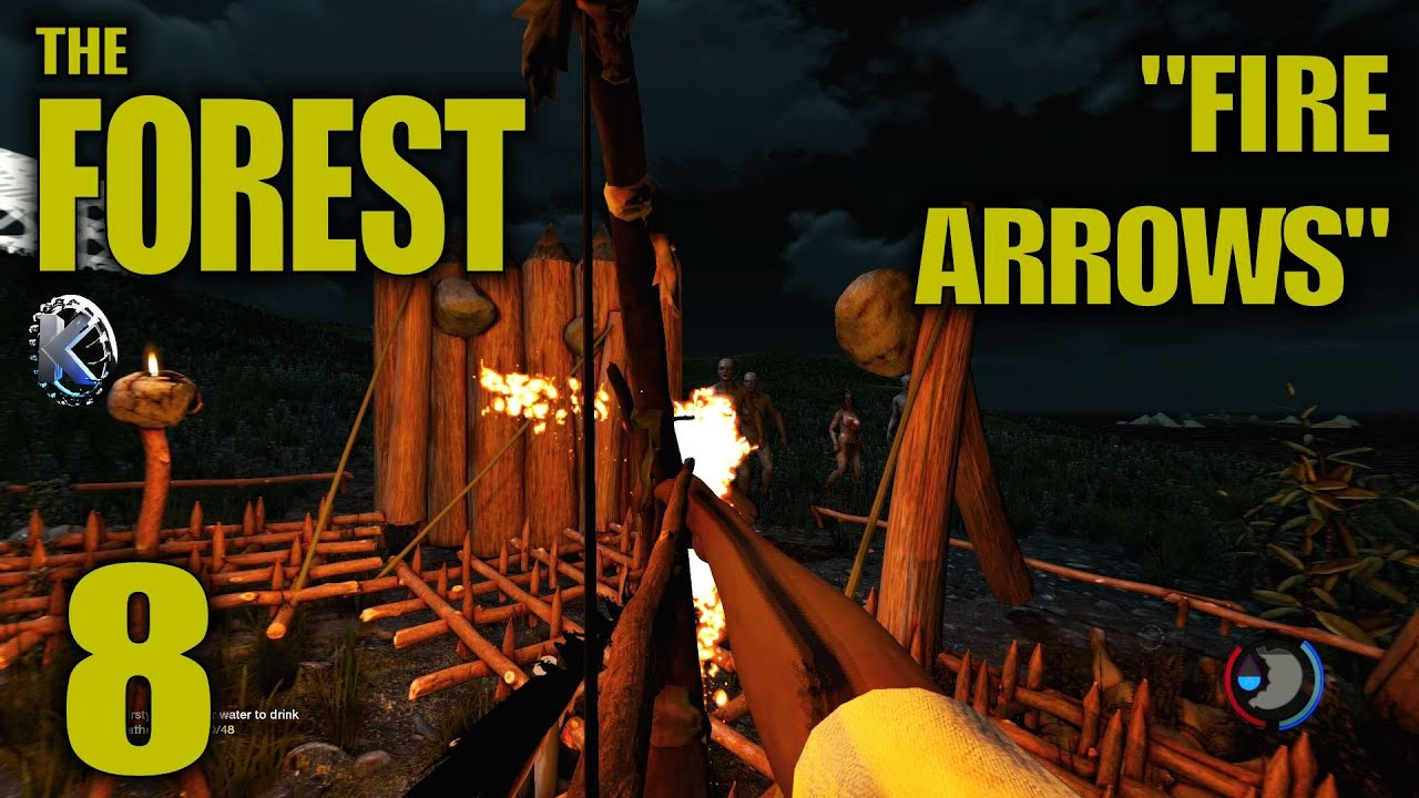 """Download The Forest Alpha 0.21 Gameplay / Let's Play (S-6) -Ep. 8- """"Fire Arrows"""""""