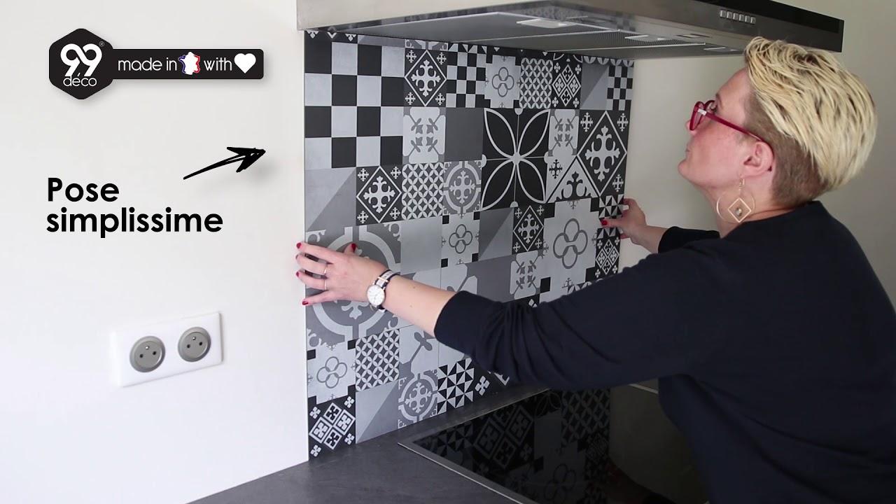 Installer Une Credence En Verre crédence de cuisine adhésive en aluminium. effet métal