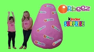 ORBEEZ Super Giant Surprise Egg The WORLD'S BIGGEST EVER Orbeez Toy Unboxing + Kinder Surprise Eggs