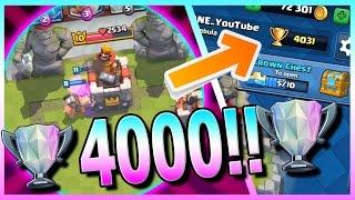 4000 trophies no legendary deck   clash royale   best legendary arena 9 hog rider deck