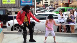 Lianna dancing with MJ impersonator thumbnail