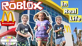Stuck in McDonald's for the Day | Roblox Obby | Thumbs Up Kids