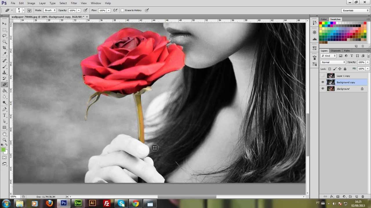 Tutorial #1 Imagem preto e branco com detalhes coloridos no Photoshop