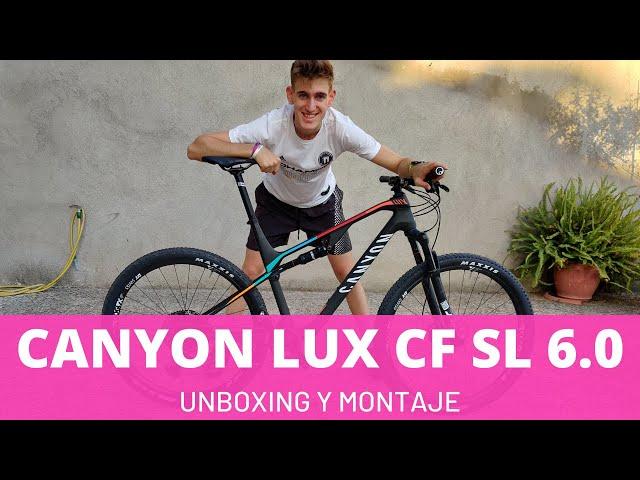 Canyon Lux CF 6.0 2020 - Unboxing en Español de la bici doble suspensión más bonita del mundo!