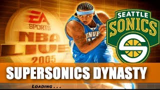 Seattle Supersonics Rebuild - Opening Night - NBA Live 2005 Dynasty - ep1