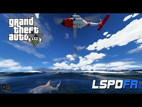 GTA 5 - LSPDFR Coastal Callouts! - US Coast Guard Helicopter Rescue Missions! (NEW GTA 5 mod for PC)
