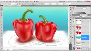 0012 Editing a radial gradient mesh