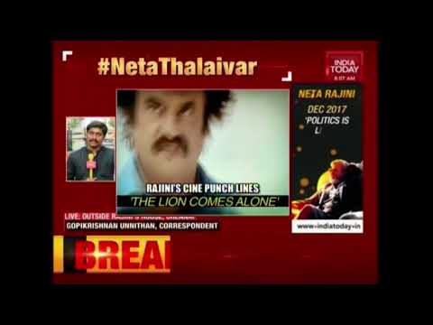 Rajini Eyes Tamil Nadu's Big Political Vacuum; Thalaiva's Big 'Neta Namaskaram' Today?