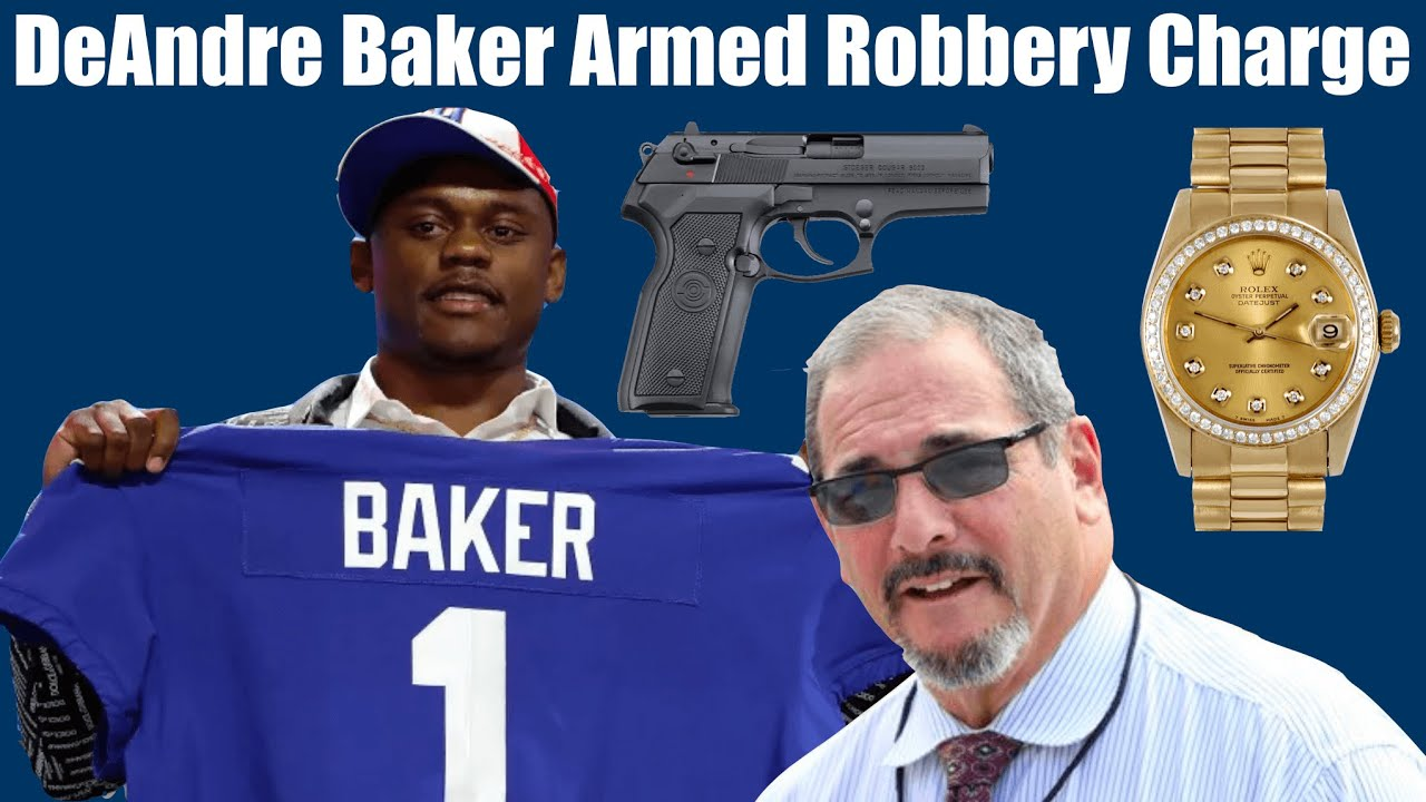 Giants' DeAndre Baker accused of armed robbery along with ...