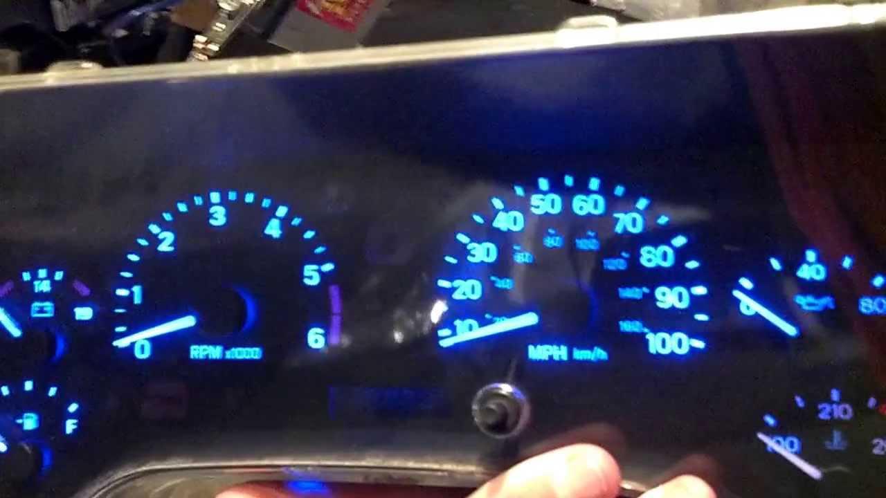 jeep tj led dash lights [ 1280 x 720 Pixel ]