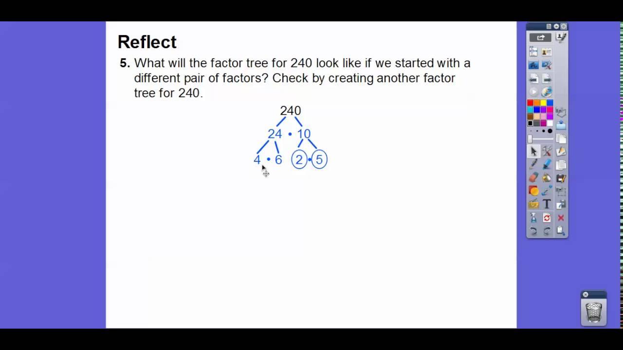homework 9.2 prime factorization
