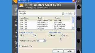 Trying out MiTeC Weather Agent
