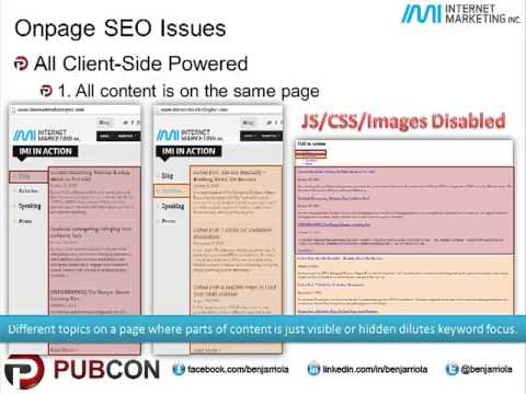 SEO Issues on on AJAX, CSS, Parallax Scrolling & other Dynamic HTML Effects