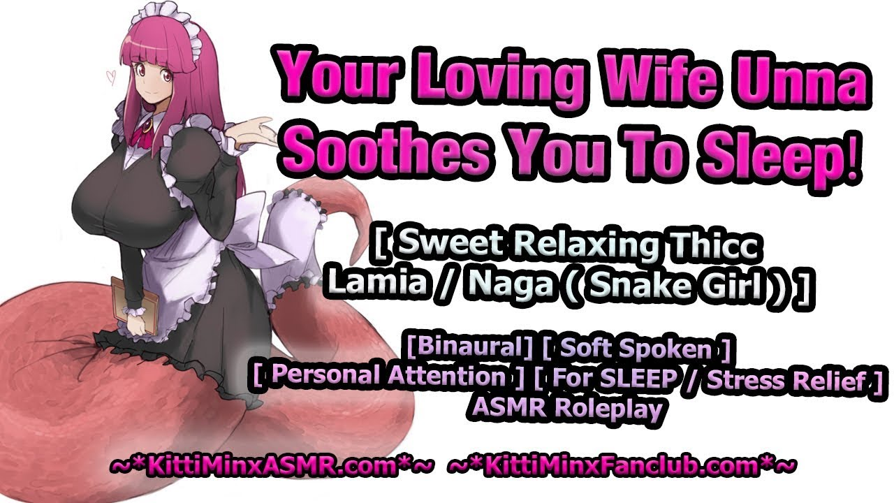 Kitti Minx ASMR  Audio Rolelplay - Your Thicc Lamia (Snake Girl) Wife Soothes You To Sleep...