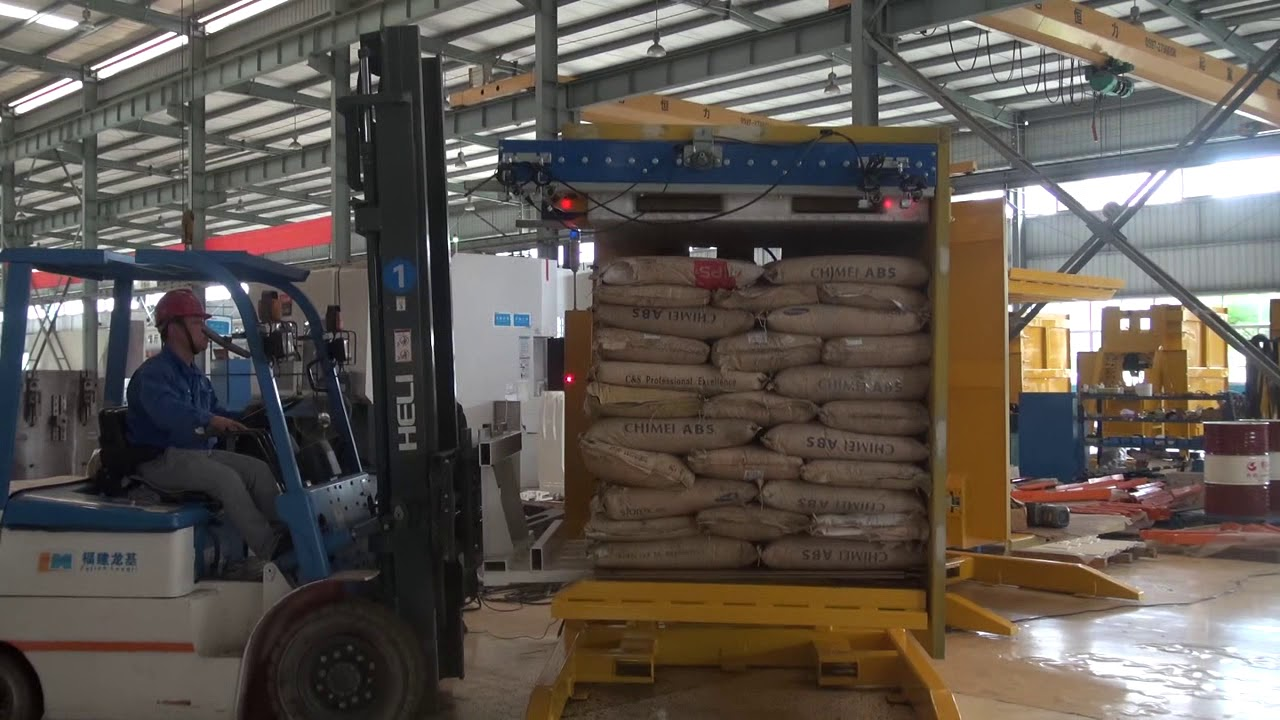 Pallet Inverter Forklift Attachment Youtube