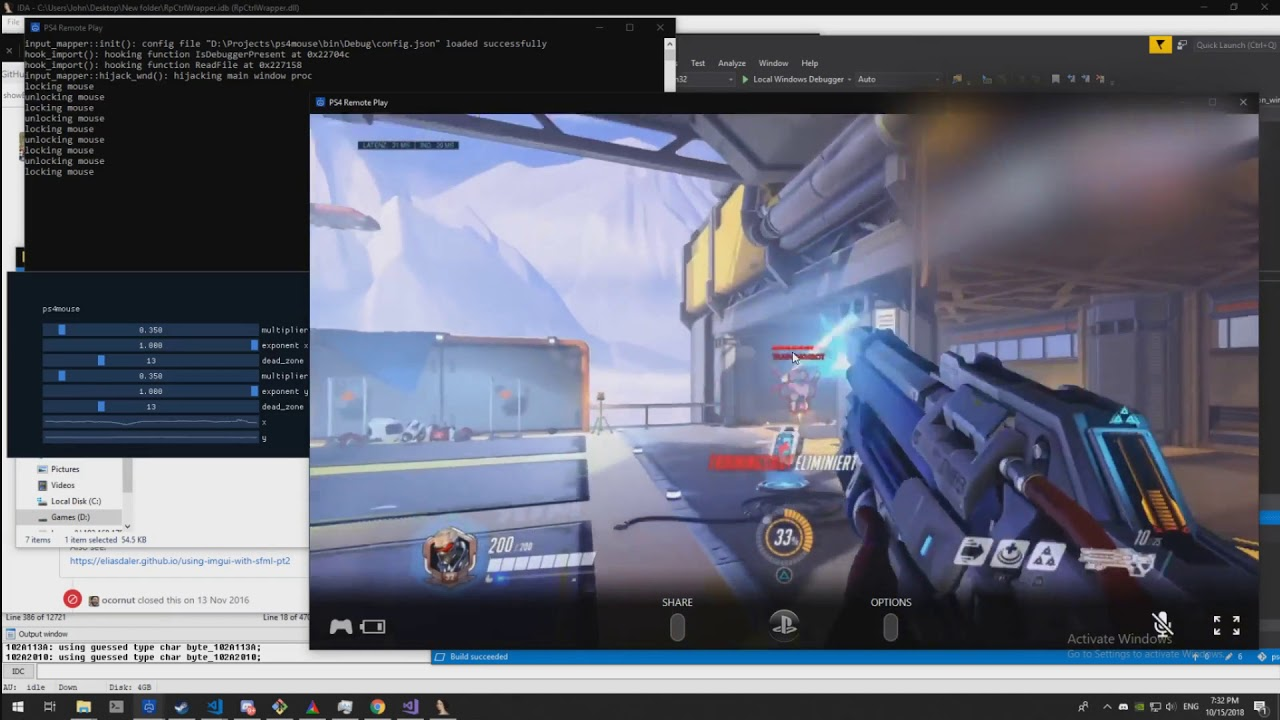 ps4 remote play mouse emulation [weekend project]