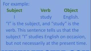 Learn English - Subject Verb Object
