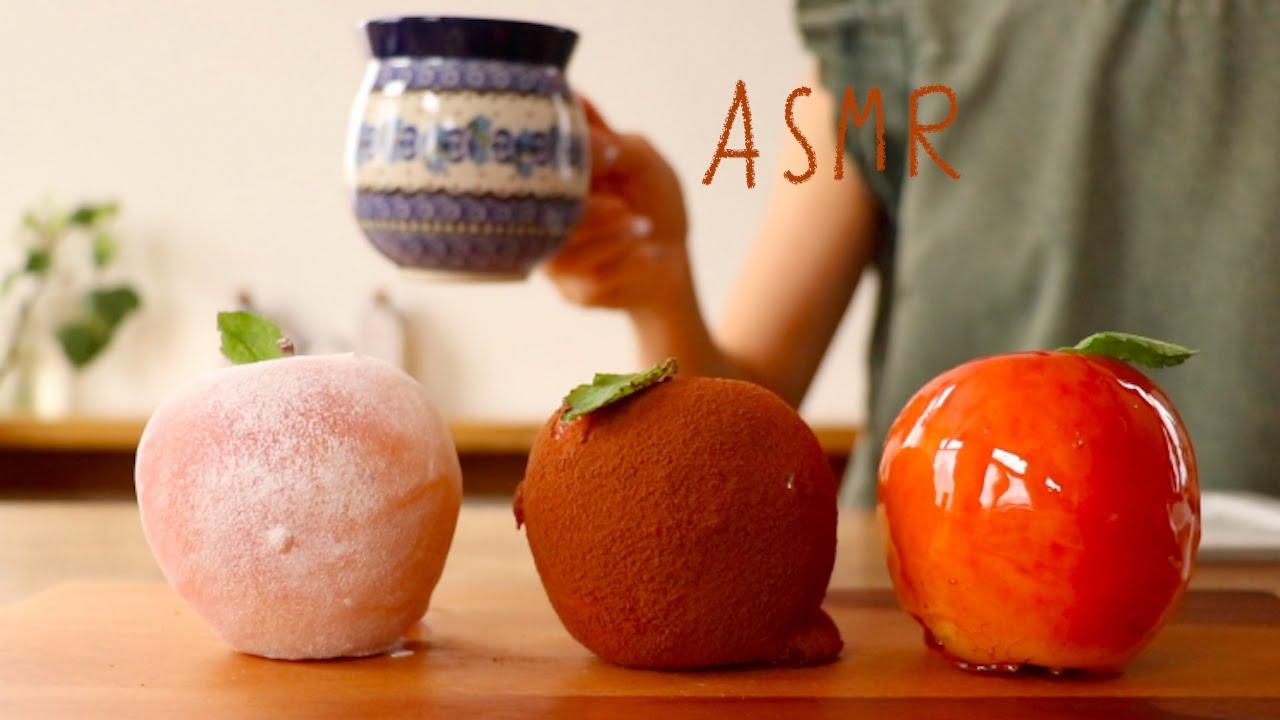 【咀嚼音/ASMR-音質改善-】りんご飴を食べる音  Candied Apples Eating Sounds
