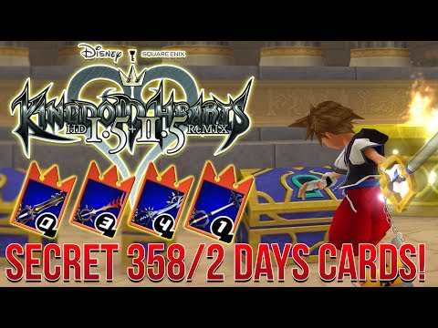 Kingdom Hearts Re:Chain of Memories - Secret 358/2 Days Keyblade Cards! (Guide)