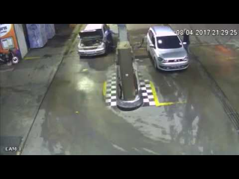 CCTV: A Car Blow Up At Petrol Station