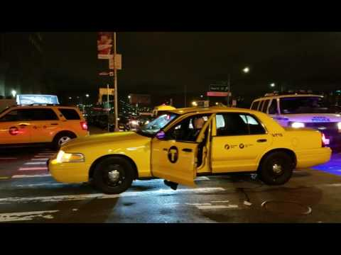 NYPD CTTF Marked Taxi Decoy Patrol Car Mobilized In Manhattan, New York