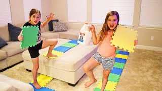 GIANT BOARD GAME PICKS OUR SLIME INGREDIENTS CHALLENGE  JKrew