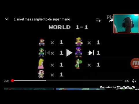 Vídeo reacción de el nivel mas sangriento de Mario #1 -d is pain