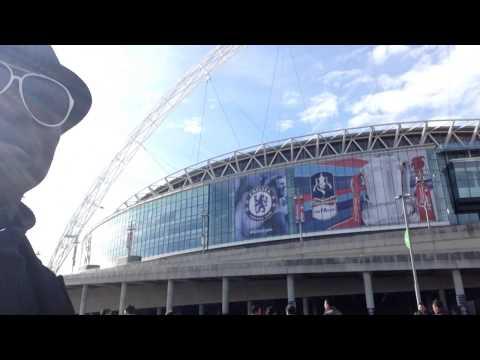 Wembley Stadium london at Wembley park station london underground brown line to london north - west