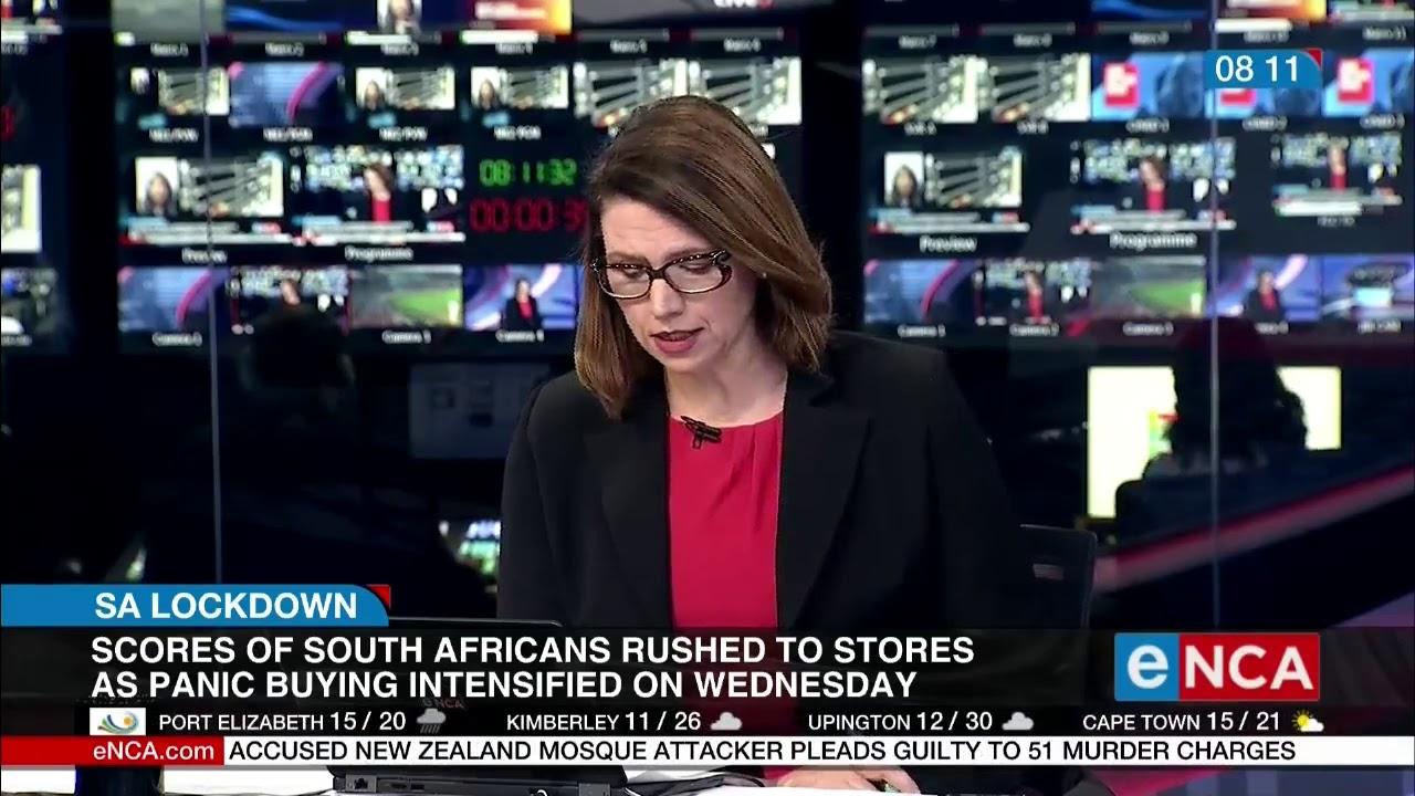 SA Lockdown | Panic shopping in SA - eNCA
