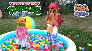 Черепашки ніндзя рятують Машу і Ведмедя. Іграшки з Нік Турбо